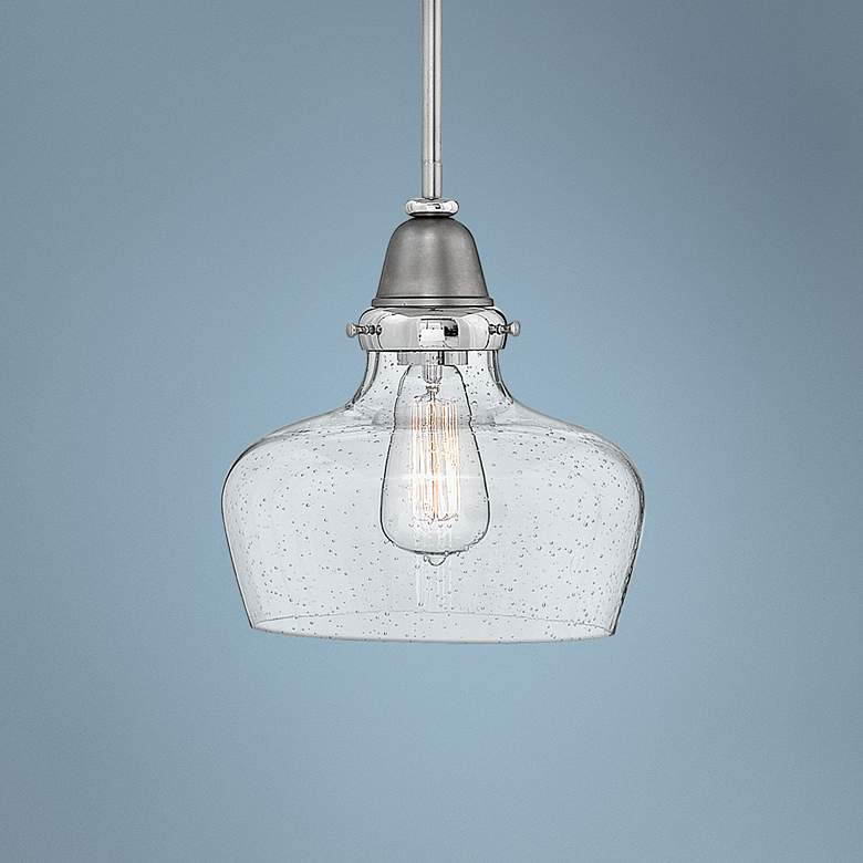 "Hinkley Academy 10"" Wide English Nickel Mini Pendant"