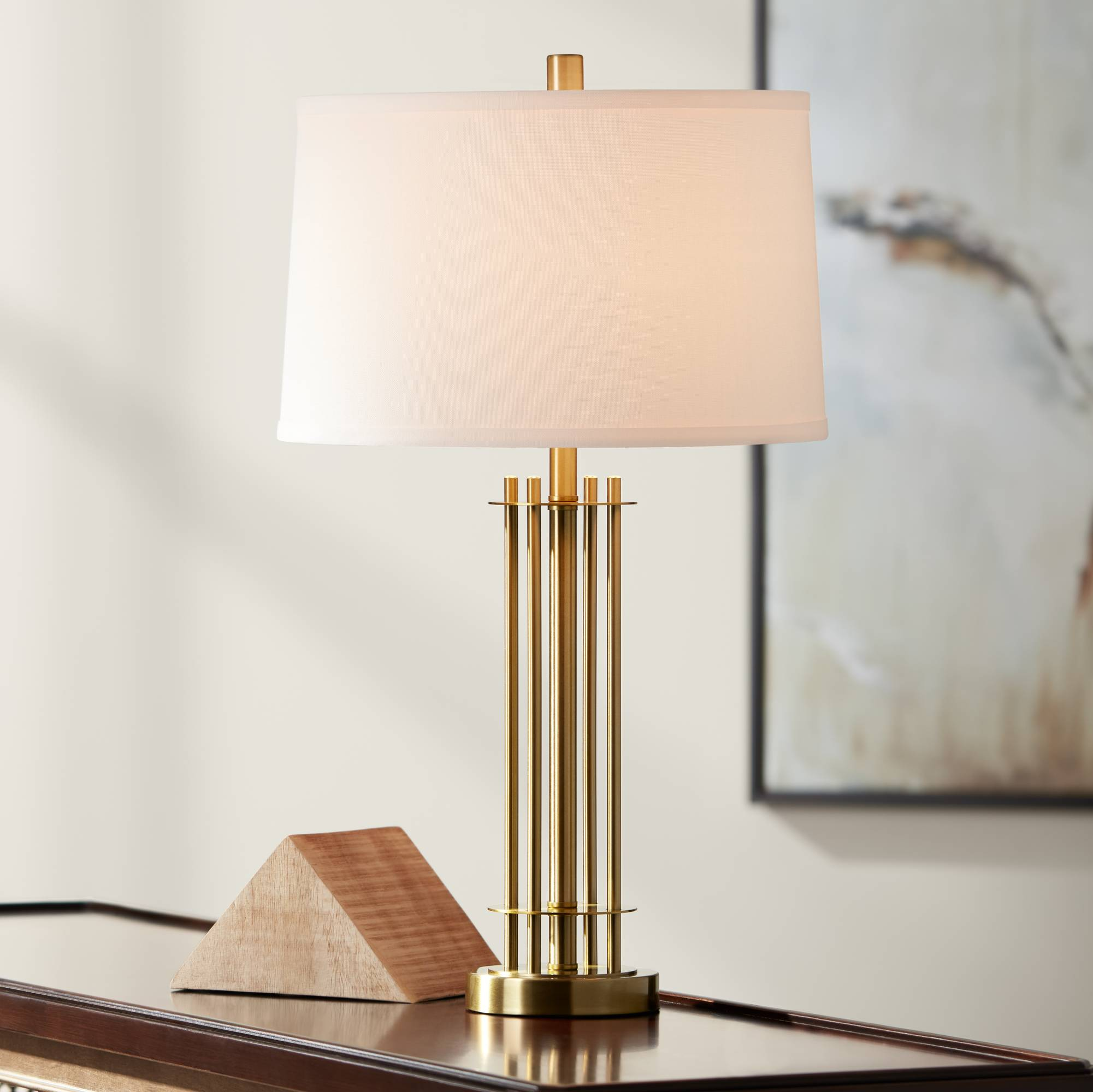 June brass metal table lamp 36w46 lamps plus