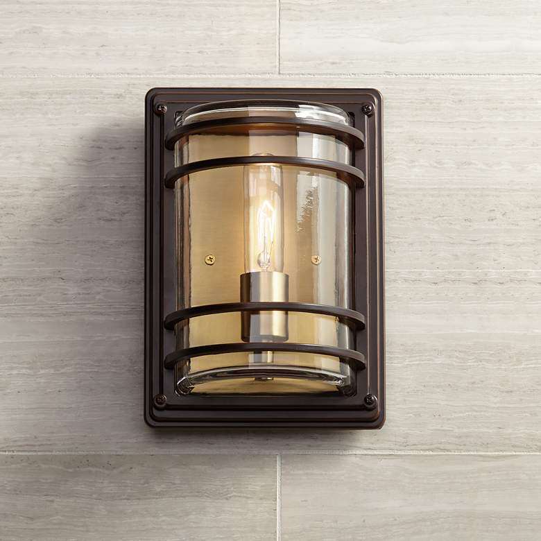 Habitat 11 High Bronze And Warm Br Outdoor Wall Light