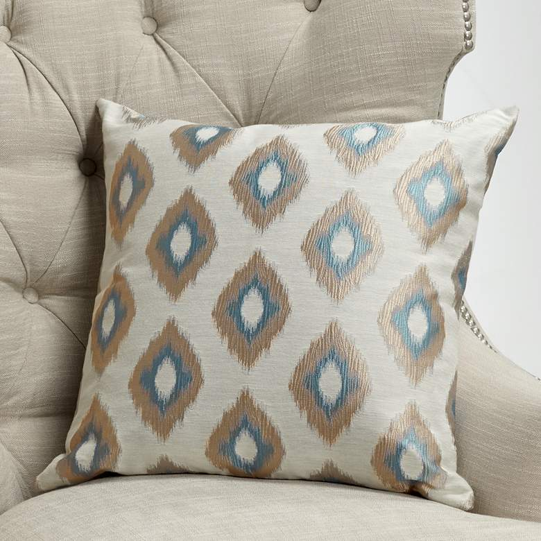 "Allegro Wedgewood 20"" Square Throw Pillow"