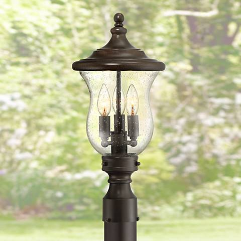"Carriage 19"" High Bronze 3-Light LED Outdoor Post Light"