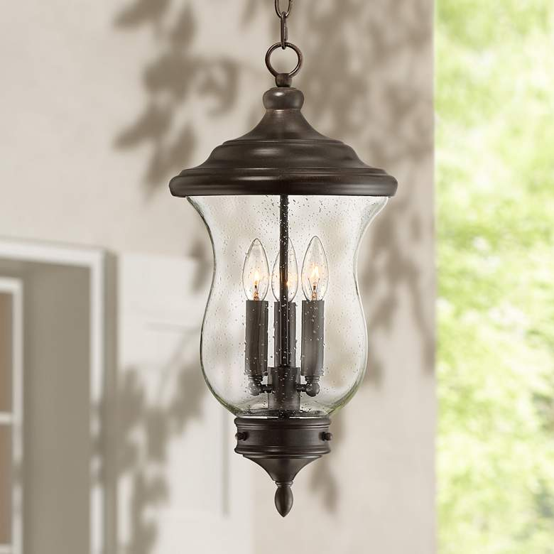 "Carriage 22"" High Bronze 3-Light LED Outdoor Hanging"