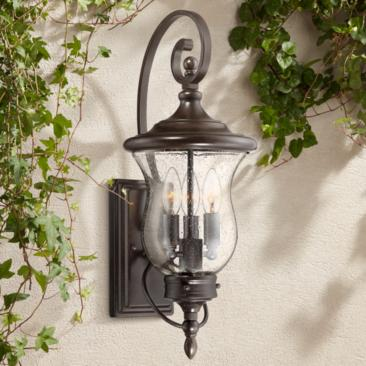 "Carriage 22"" High Bronze LED Outdoor Wall Light"
