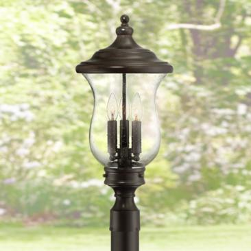 "Carriage 23"" High Bronze 3-Light LED Outdoor Post Light"