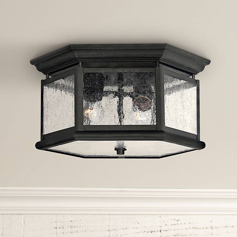 "Hinkley Raley Collection 13"" Wide Black Ceiling Light"