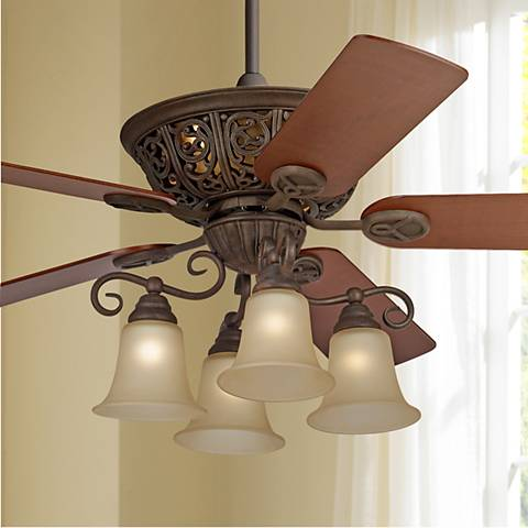52 costa del sol scroll ceiling fan 37565 lamps plus