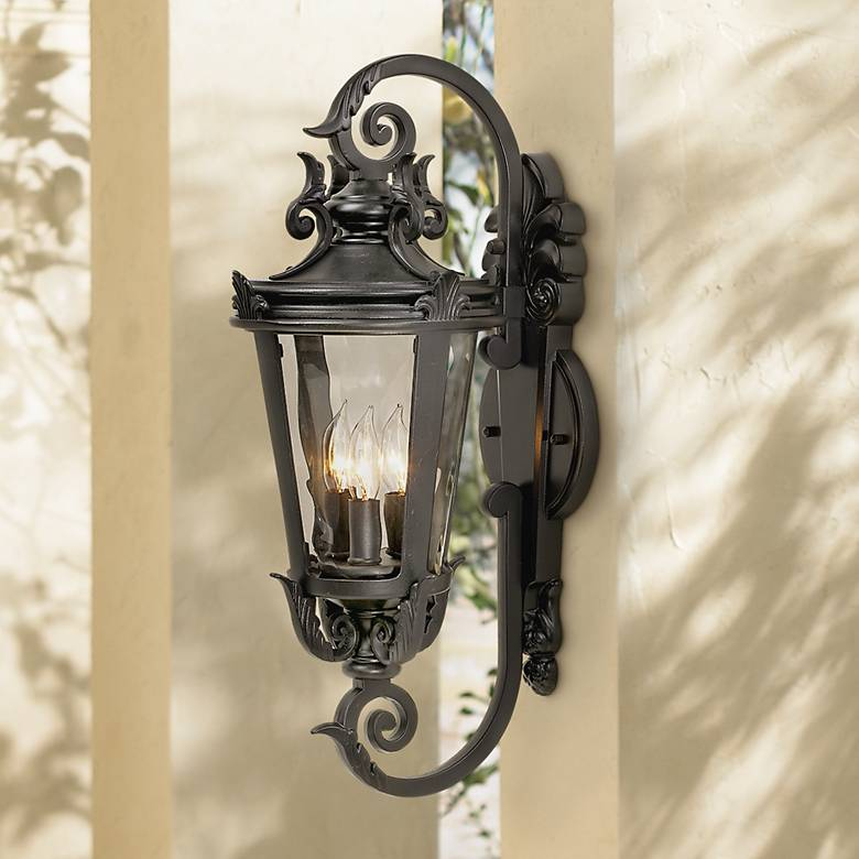 "Casa Marseille™ 21 1/2"" High Black Outdoor Wall Light"
