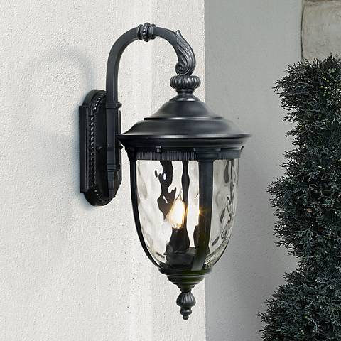 "Bellagio 20 1/2"" High Black Downbridge Outdoor Wall Light"