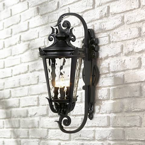 "Casa Marseille™ 27 1/2"" High Black Outdoor Wall Light"