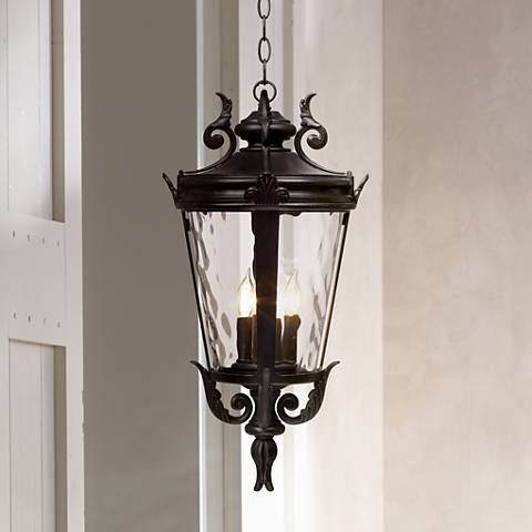 "Casa Marseille™ 23 3/4"" High Black Outdoor Hanging Light"