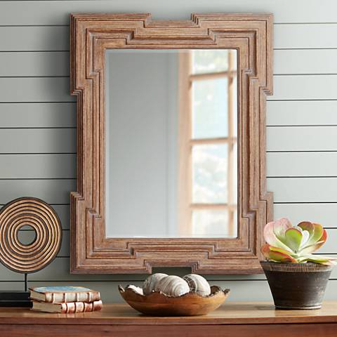 "Jackson Wood 35 3/4"" x 46"" Rectangular Wall Mirror"