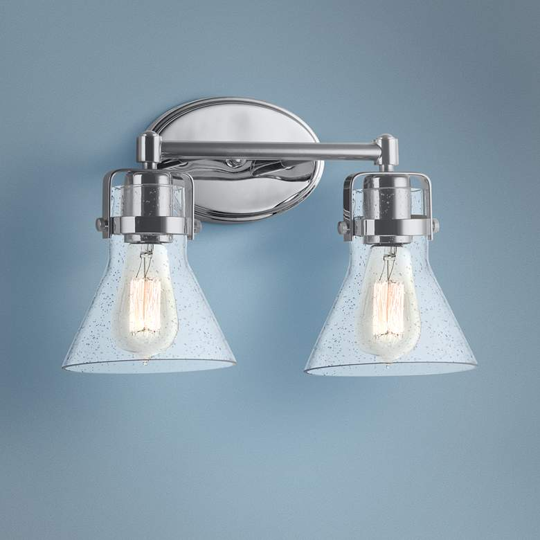 "Maxim Seafarer 9 3/4""H Polished Chrome 2-Light Wall Sconce"