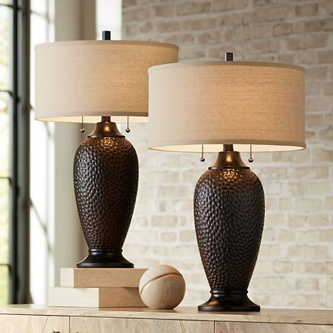 Cody oiled bronze table lamp set of 2 37e15 lamps plus cody oiled bronze table lamp set of 2 mozeypictures Image collections
