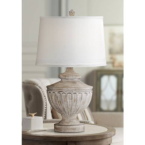 Villa Pompeii Brown and Weathered Gray Table Lamp