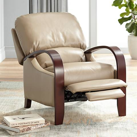 Cooper Celestial Oat Faux Leather 3-Way Recliner Chair