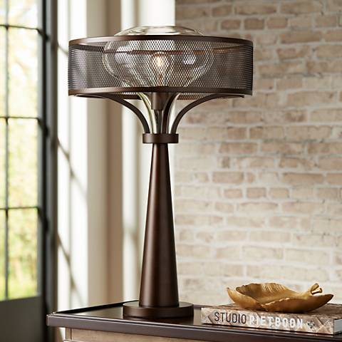 Possini Euro Design Luis Oil Rubbed Bronze Metal Table Lamp
