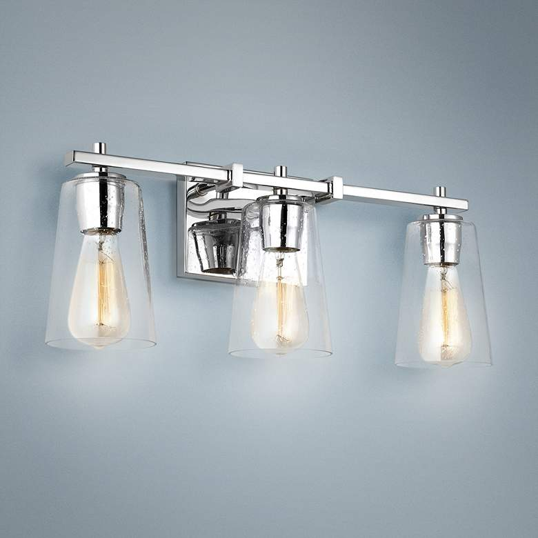 "Feiss Mercer 21 1/2"" Wide Chrome 3-Light Bath Light"