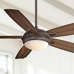 "54"" Minka Aire Lun-Aire Oil Rubbed Bronze LED Ceiling Fan"