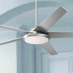 "70"" Casa Como Brushed Nickel LED Ceiling Fan"