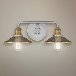 "Hinkley Rigby 8 3/4"" High Antique Nickel 2-Light Wall Sconce"