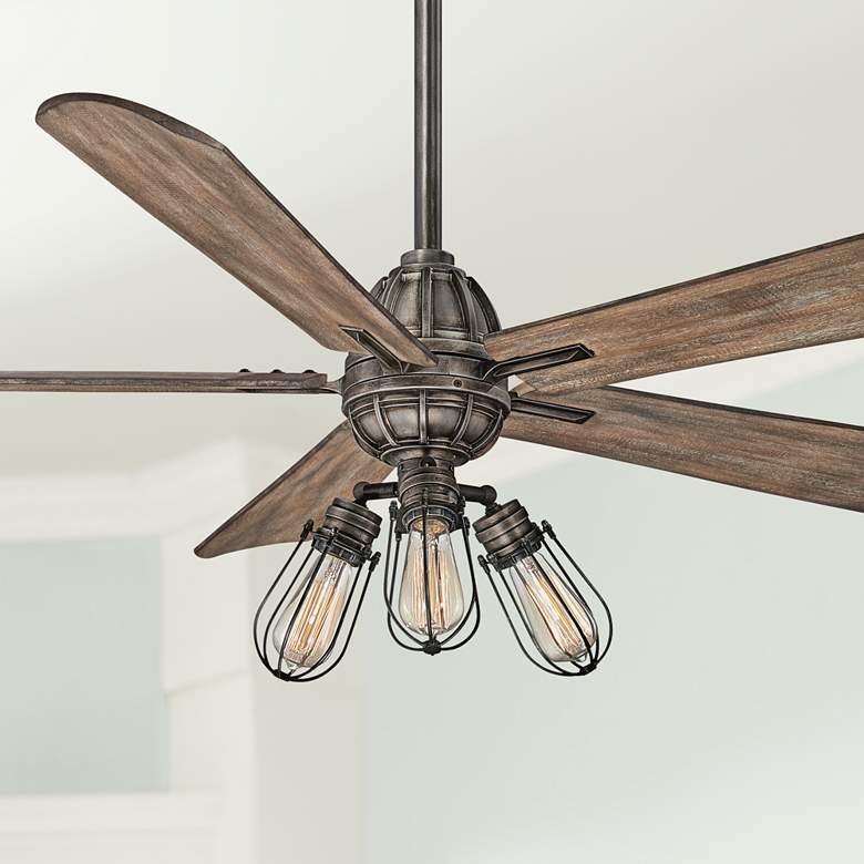 "56"" Minka Aire Alva Heirloom Bronze LED Ceiling Fan"