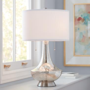 Possini Euro Trixie Mercury Glass Table Lamp