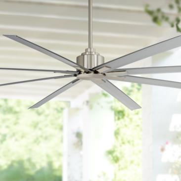 "84"" Minka Aire Xtreme H20 Brushed Nickel Wet Ceiling Fan"
