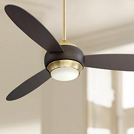 54 Casa Vieja Lynx Soft Br And Bronze Led Ceiling Fan