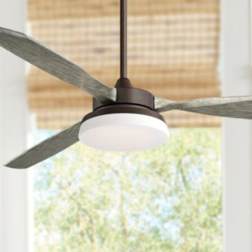 "57"" Tristan Oil Rubbed Bronze Indoor-Outdoor LED Ceiling Fan"