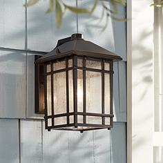Kathy ireland outdoor lighting lamps plus jardin du jour sierra craftsman 11 high outdoor wall light audiocablefo Light database