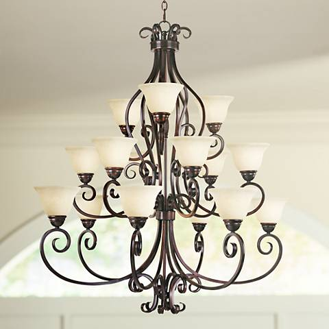 "Maxim Manor 45""W Oil Rubbed Bronze 15-Light Chandelier"