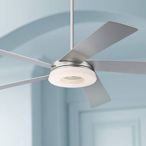 "56"" Retina 360 Brushed Steel LED Ceiling Fan"