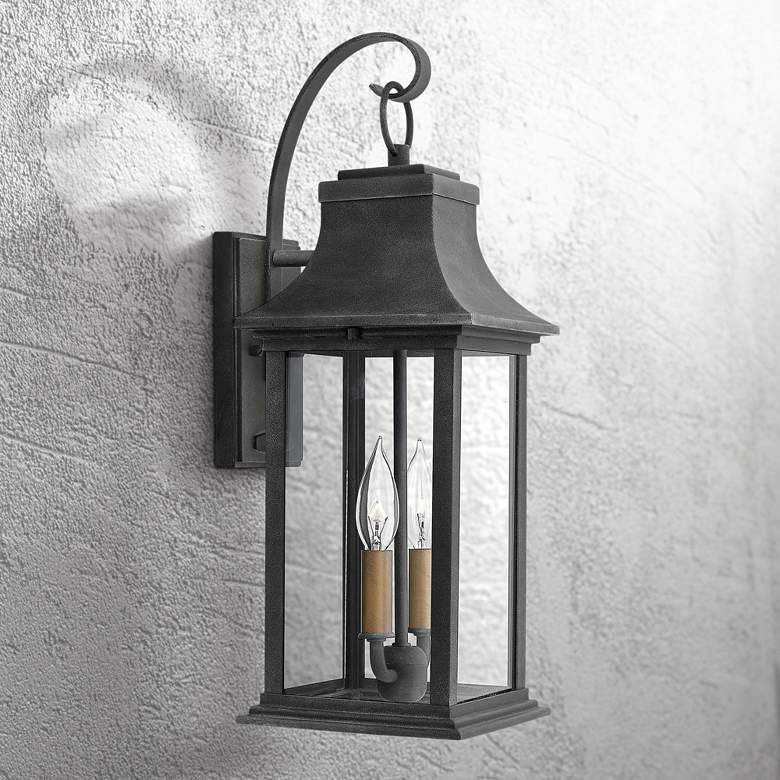 "Hinkley Adair 20"" High Aged Zinc Outdoor Wall Light"