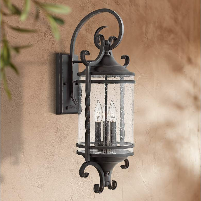 "Hinkley Casa 26"" High Olde Black Outdoor Wall"
