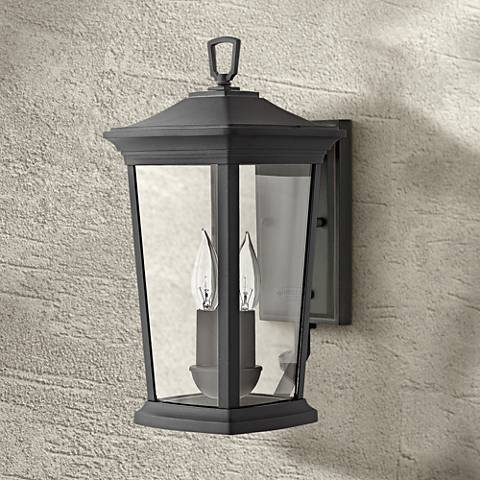 "Hinkley Bromley 15 1/2"" High Museum Black Outdoor Wall Light"