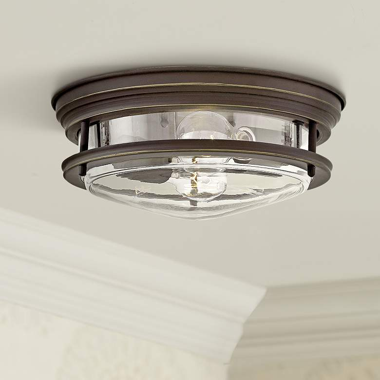 "Hinkley Hadley 12""W Oil Rubbed Bronze 2-Light Ceiling"