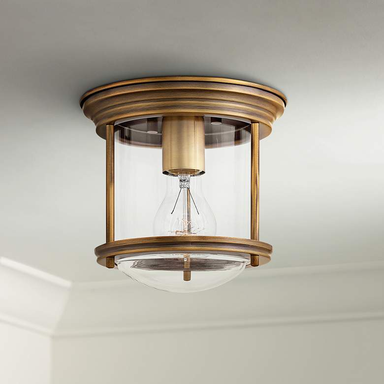 "Hinkley Hadley 7 3/4"" Wide Brushed Bronze Ceiling Light"
