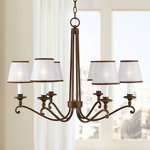 "Rondele 31 1/2"" Wide Oil Rubbed Bronze 6-Light Chandelier"