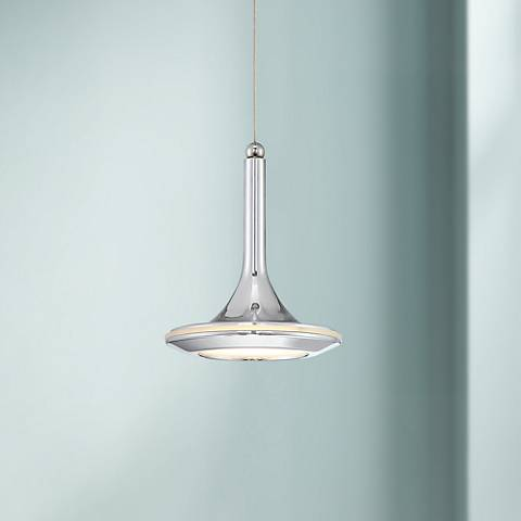 "Possini Euro Hayes 5"" Wide Chrome LED Mini Pendant"