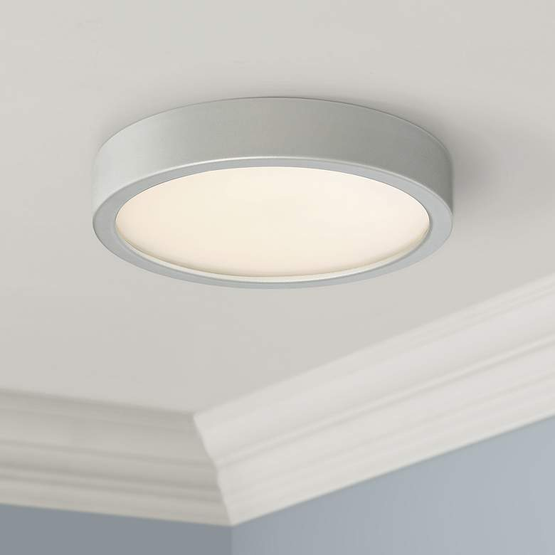 "George Kovacs Puzo 8"" Wide Silver LED Ceiling"