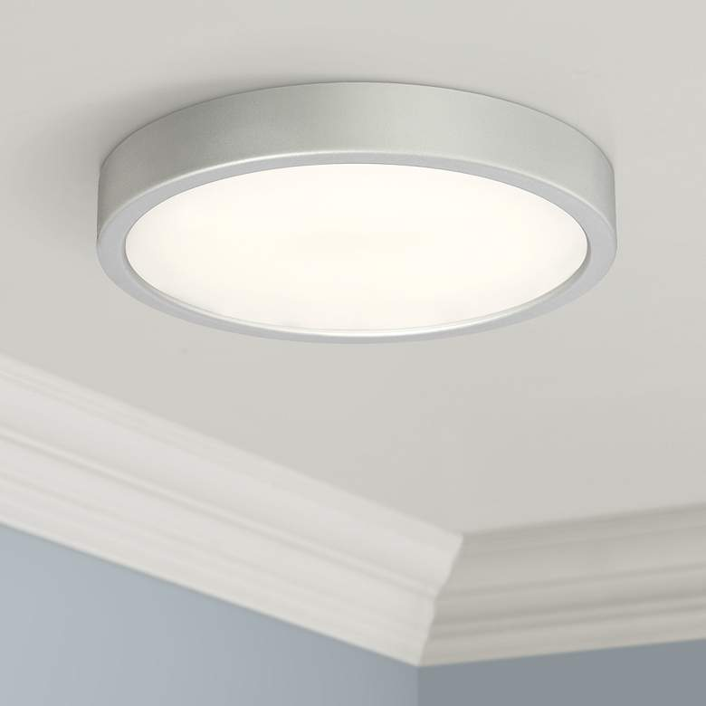 "George Kovacs Puzo 10"" Wide Silver LED Ceiling"