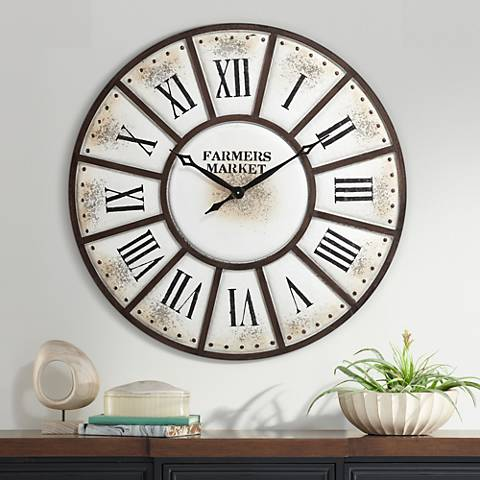 "Aelia 39 1/2"" Wide Metal Wall Clock"