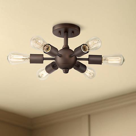Bestla Oil Rubbed Bronze 6-Light Ceiling Light