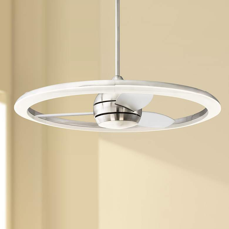 "36"" Craftmade Anillo Brushed Polished Nickel LED Ceiling"