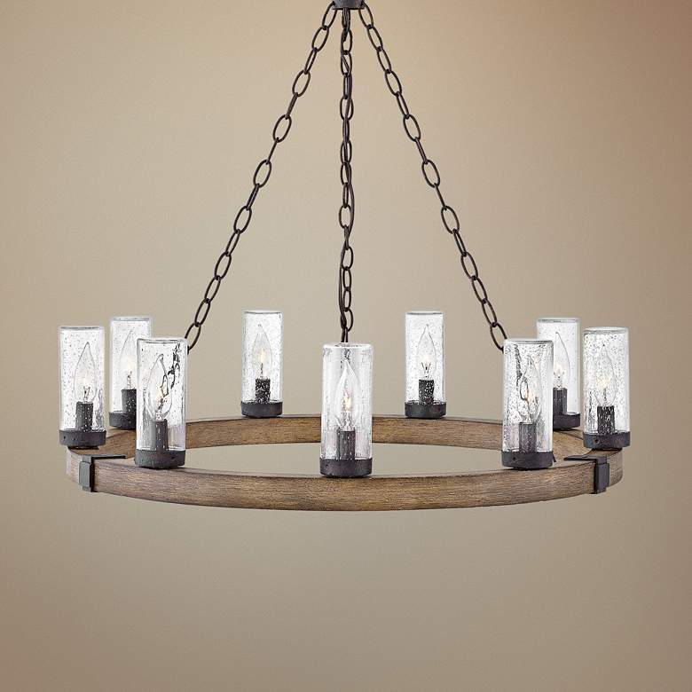"Hinkley Sawyer 30"" Wide Sequoia 9-Light Outdoor Chandelier"