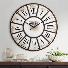 Aelia 39 1 2 Wide Metal Wall Clock