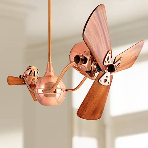"44"" Matthews Vent Bettina Dual-Head Copper Ceiling Fan"