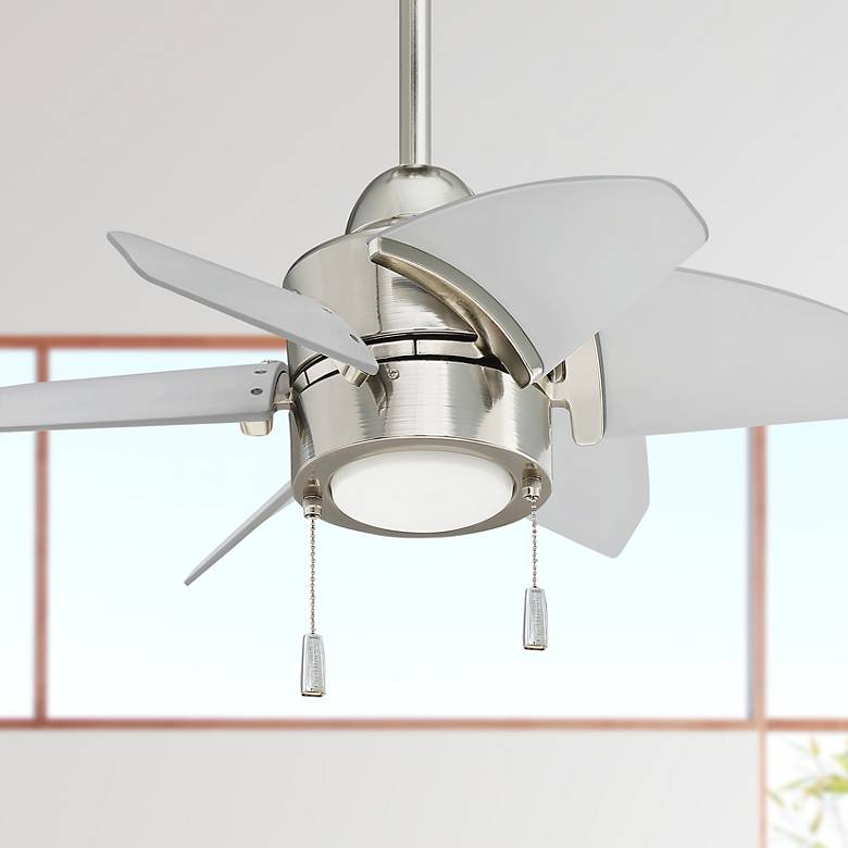 "24"" Craftmade Propel Polished Nickel LED Ceiling Fan"