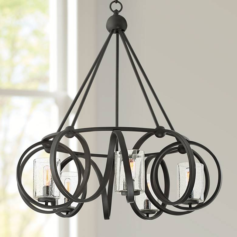 "Possini Euro Tyson 28 3/4"" Wide Bronze 5-Light Chandelier"