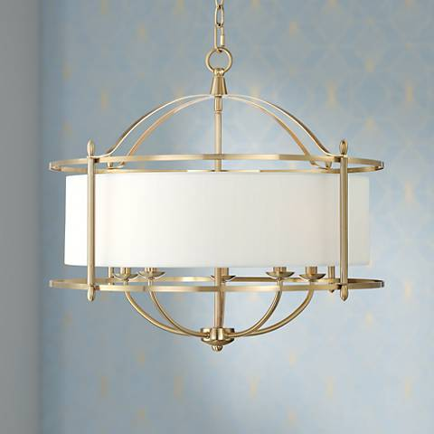 "McKesson 24 1/2"" Wide Warm Brass Chandelier"